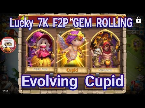 Lucky 7K F2P Gem Rolling And Evolving Cupid Castle Clash