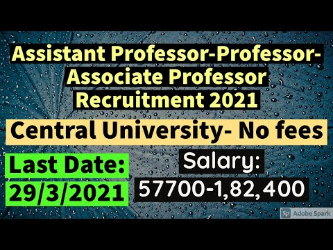 Job Recruitment 2021 | Central University | Be Prepare for UGC-NET