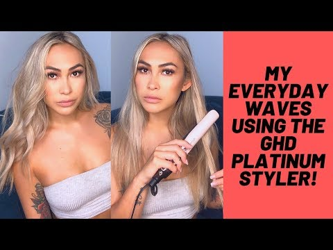 My Everyday Beachy Waves Using The Platinum+ GHD Styler | Cassie Lansdell ♡