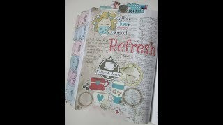 """Technique Thursday # 124 Proverbs 11:25 """"Refresh"""" Bible Journal Page"""
