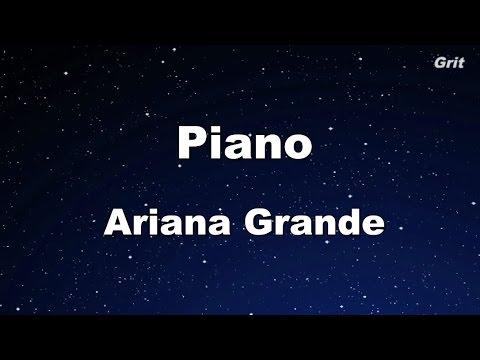 Piano - Ariana Grande Karaoke【Guide Melody】