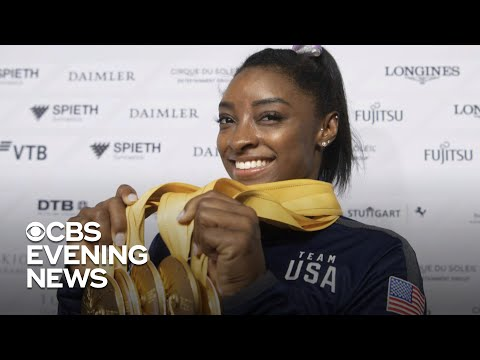 Martha Quinn - Simone Biles Becomes World Champions' Most Decorated Gymnast