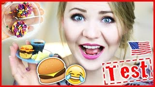 ICH TESTE VERRÜCKTE USA Spiele für Kinder | Burger & Donut?!