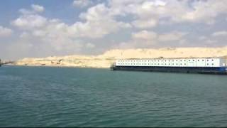 New Suez Canal: a scene in July 16, 2015