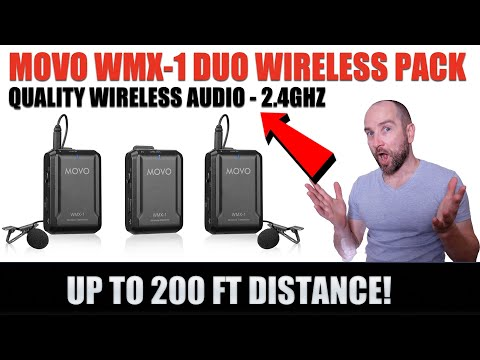 Movo WMX-1 2.4GHZ Dual Wireless Audio Pack for Filmmaking!