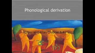 Kuiper and Allan - An Introduction to English Language 3e - Sounds - Derivation