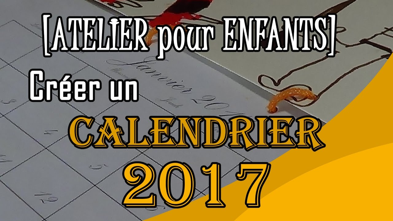 creez votre calendrier 2017 a imprimer bricolage activite pour enfants youtube. Black Bedroom Furniture Sets. Home Design Ideas