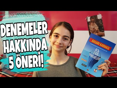 DENEME TAVSİYELERİ | LGS'de işinize yarayacak 5 öneri!