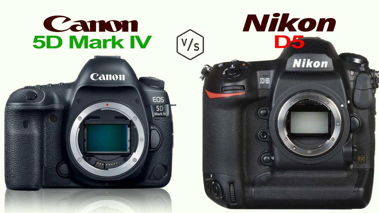 Canon EOS 5D Mark IV Vs Nikon D5