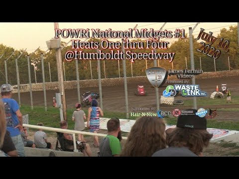 POWRi National Midgets #1, Heats 1-4, Humboldt Speedway, 07/10/20 from YouTube · Duration:  15 minutes 48 seconds