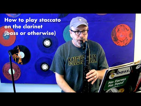 Staccato tonguing on clarinet (and/or bass clarinet and/or sax)
