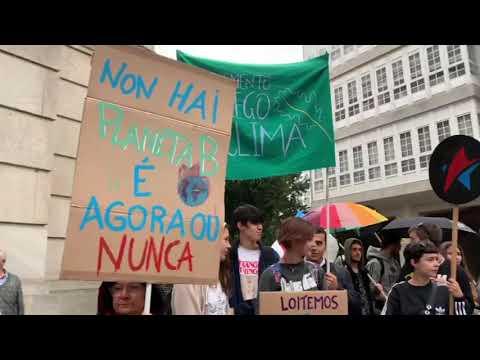 Ducias de mozos lucenses súmanse á Folga Mundial polo Clima