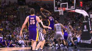 NBA Playoffs 2013: NBA LA Lakers Vs San Antonio Spurs Highlights April 21, 2013 Game 1