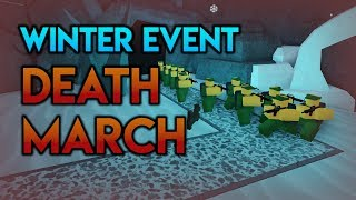 Death March: ONLY Barracks in Winter Event | Tower Battles [ROBLOX]