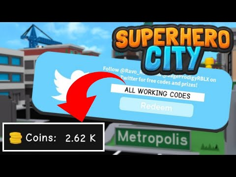 All Codes Superhero City Codes Roblox | StrucidCodes.com