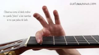 como hacer cejilla tutorial truco para poner la cejilla y que suene bien ACORDE FA guitarra FACIL