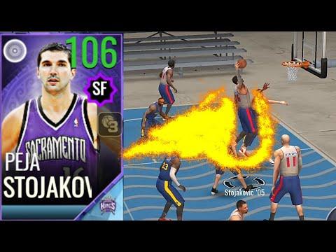"NBA Live - 聲望大師""106 Stojakovic"" 禁區狂暴模式💪💪"