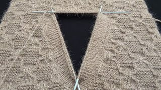V- Shape Neck Knitting | Double Border | Sui se bnd hone wala neck
