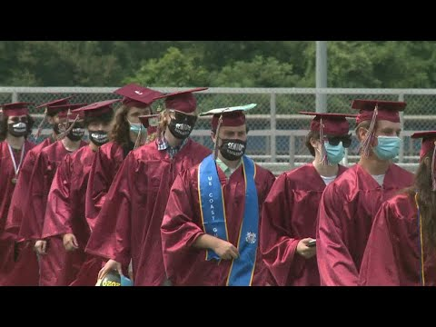 Naugatuck high school hosts COVID-19 safe graduation ceremony