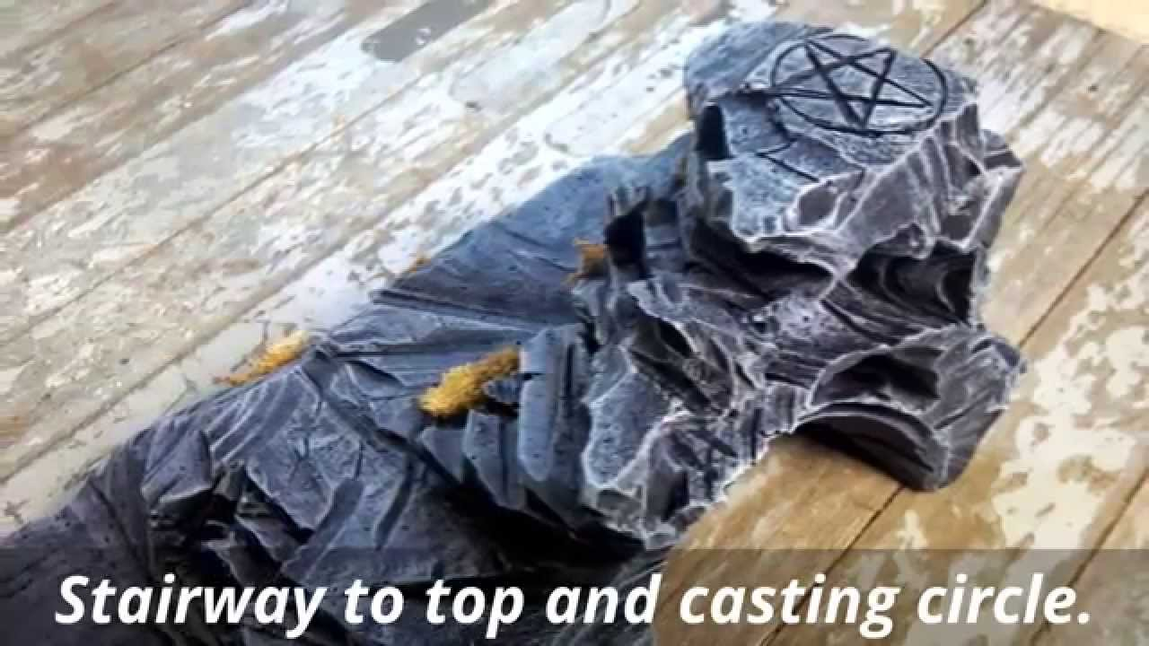 Rock caves rpg wargame terrain sculpted from foam. youtube