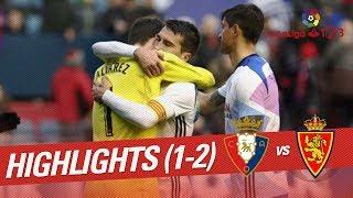 Resumen de Osasuna vs Real Zaragoza (1-2)