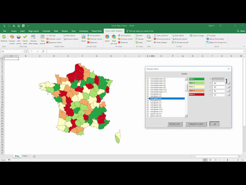 Excel Map France Departments & Regions - How to use the software?