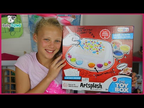 UNBOXING The Toy Box ABC Show WINNING Toy ARTSPLASH by Mattel