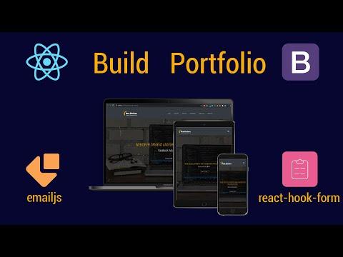 React JS & Bootstrap | Build Portfolio App | 4K