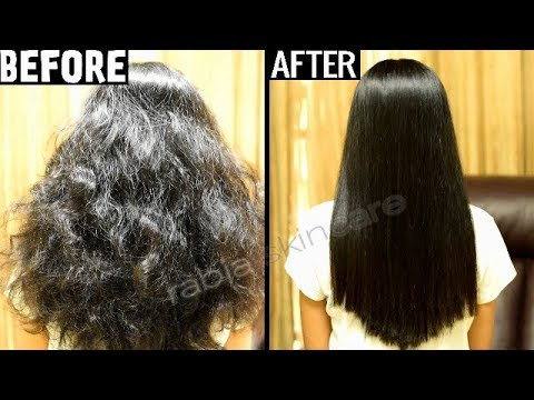 Keratin Treatment At Home for Straight Smooth Shiny Frizz Free Hair  YouTube