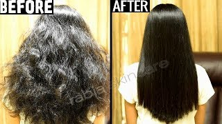 Keratin Treatment At Home for Straight Smooth Shiny Frizz Free Hair