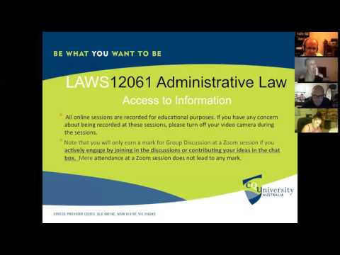 Administrative Law: Access to Information (Tutorial)