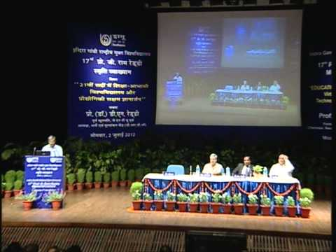 17th Prof. G Ram Reddy Memorial Lecture Chief Guest- Prof.(Dr.) D.N. Reddy part I