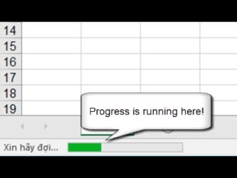 How To Create Progress On Statusbar In Excel By Vba