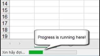 How to create Progress on Statusbar in Excel by VBA programming