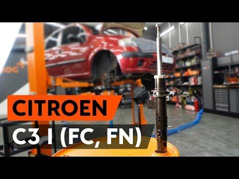Как заменить стойку амортизатора передней подвески наCITROEN C3 1 (FC, FN) [TUTORIAL AUTODOC]