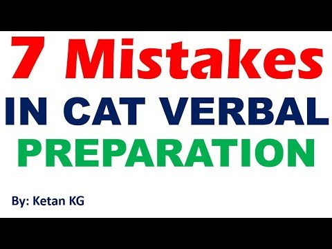CAT - Verbal Ability - 7 Mistakes to Avoid