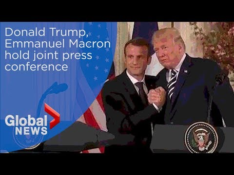 Trump celebrates strong friendship with France's Macron during FULL press conference