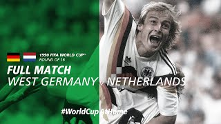 West Germany v Netherlands | 1990 FIFA World Cup | Full Match