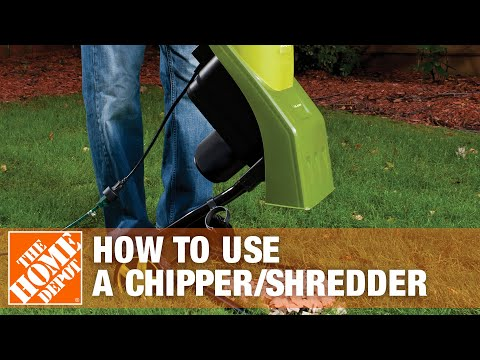 How To Use A Chipper Shredder The Home Depot