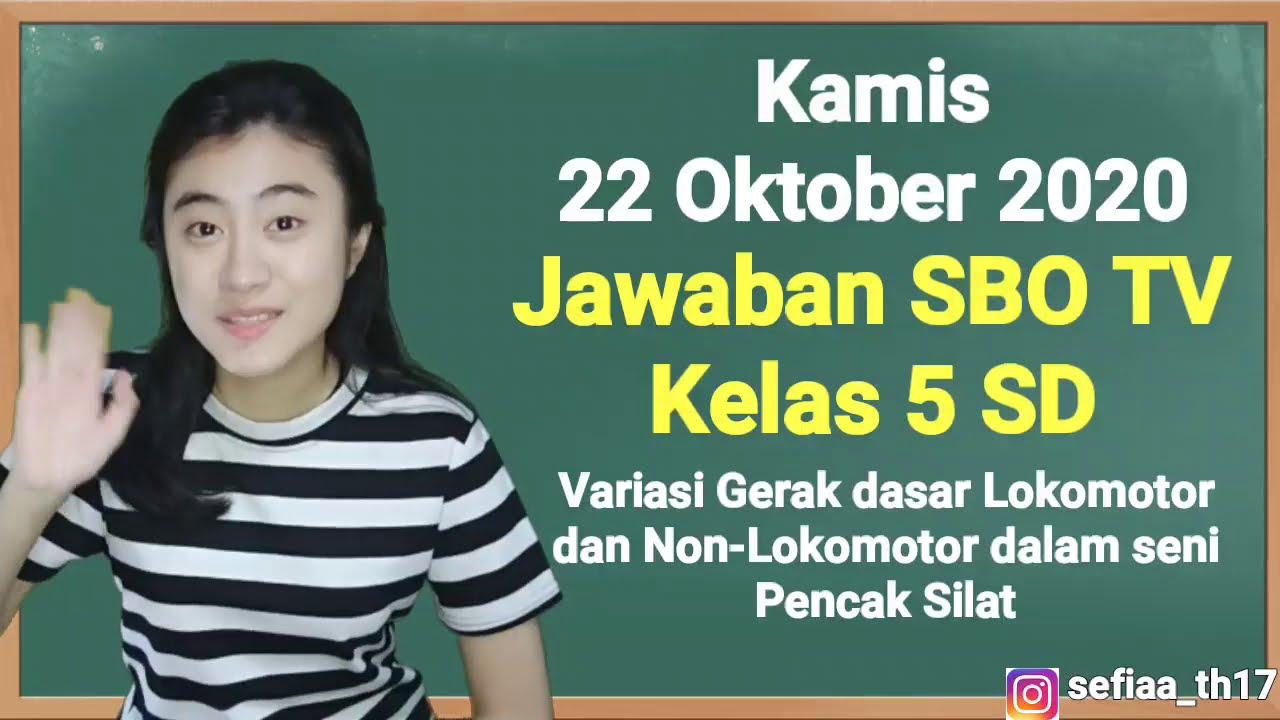 Kunci Jawaban SBO TV Kelas 5 SD Kamis 22…