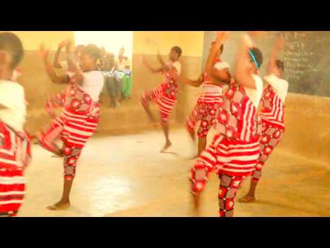 Traditional Mossi dance performed by secondary school pupils, CSSS, Ouagadougou, Burkina Faso.