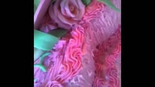 торт 2 эт красные розы свадебный wedding cake russian