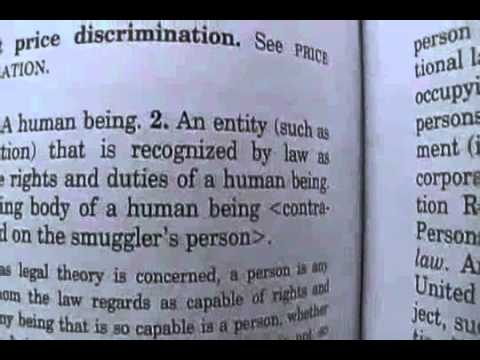 What is a Person-Black law dictionary - YouTube