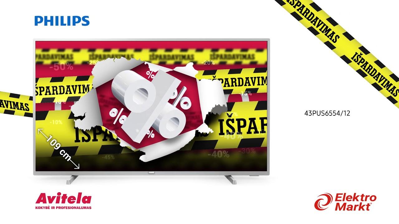 DIDYSIS METŲ IŠPARDAVIMAS! Philips televizoriams iki -25%!