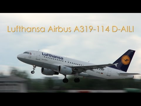 Lufthansa Airbus A319-114 - D-AILI taxi and takeoff at Stuttgart Airport