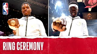 Toronto Raptors Championship Ring Ceremony | October 22, 2019