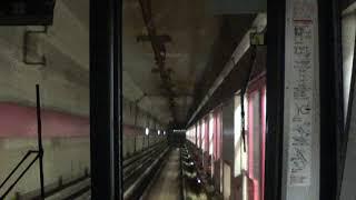 京都市営地下鉄  東西線  太秦天神川行  前面展望  4Kノーカット  Kyoto City Subway Tozai Line for Uzumasa tenjingawa (Kyoto)