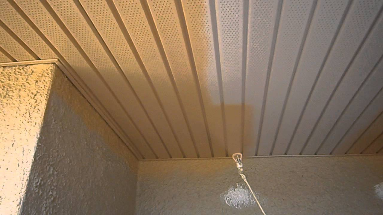 Painting Company Spraying Porch Ceiling Youtube