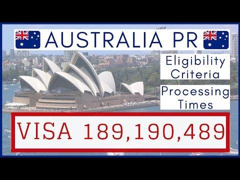 🇦🇺 Australia PR Visa Subclass 189, 190, 489