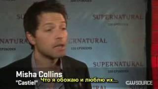 Supernatural 100 Episodes - Thank you fans! (rus.sub)[1].avi